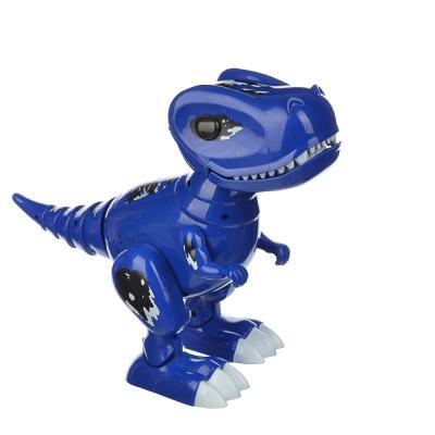 "293-078 ИГРОЛЕНД Робот-динозавр ""Динопитомец Тироня"" звук, свет, движ., пластик, 3АА, 26х20,5х10см, 2 цвета"