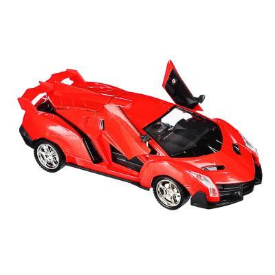 """293-083 ИГРОЛЕНД Машина радиоуправляемая """"Спорткар"""" двери откр,свет, ABS, 5хАА, 25,7х13,2х10,8см, 6 дизайнов"""