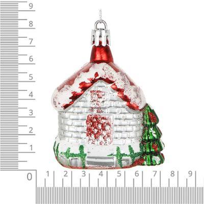 """376-683 СНОУ БУМ Подвеска """"Снежный домик"""", 7см, пластик"""