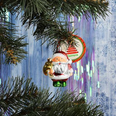 "376-687 СНОУ БУМ Подвеска ""Дед Мороз"", 8,5см, пластик"