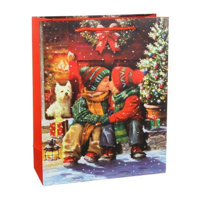 369-433 СНОУ БУМ Пакет подарочный, 26х32х10см, бумага высокого качества, глиттер, 8-12 диз. арт.2021-7