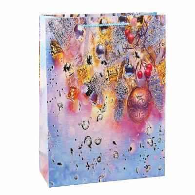 369-443 СНОУ БУМ Пакет подарочный, 31х42х12см, бумага высокого качества, глиттер, 8-12 дизайнов арт 2021-011