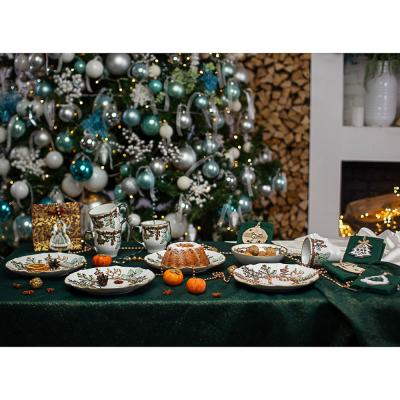820-087 MILLIMI Рождество Салатник 19х6см, керамика