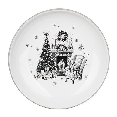 820-093 MILLIMI Чудесная ночь Блюдо круглое 22х3см, керамика