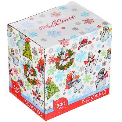 820-108 MILLIMI Мешок подарков Кружка 340мл, 4 дизайна, керамика, подарочная упаковка