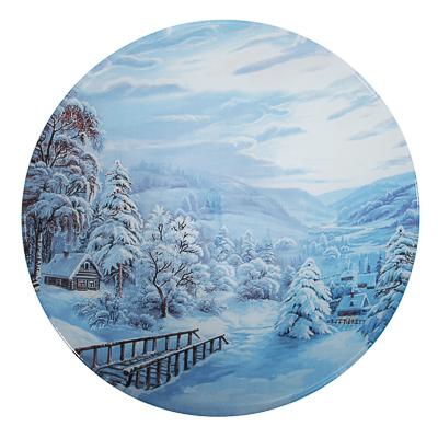 820-111 Зимнее утро Салатник круглый 22х5см, стекло
