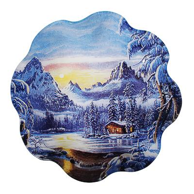 820-119 Зимняя сказка Салатник круглый 23х4,5см, стекло