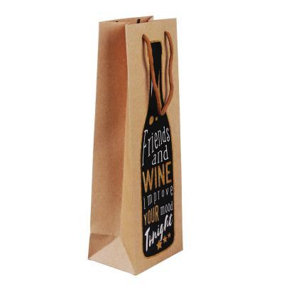 507-010 Пакет подарочный для бутылки, высококачественная бумага, 12,8х36х8,4см, 12 дизайнов