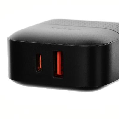 916-234 Зарядное устройство FORZA Модерн USB, 220В, 2USB, 3А, Быстрая зарядка QC3.1