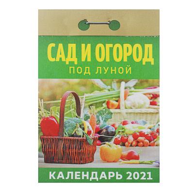"""584-077 Календарь настенный отрывной, """"Сад и Огород под луной"""", бумага, 7,7х11,4см, 2021"""