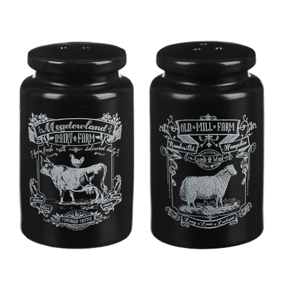 824-449 MILLIMI Ранчо Набор для соли и перца, 5х8см, керамика