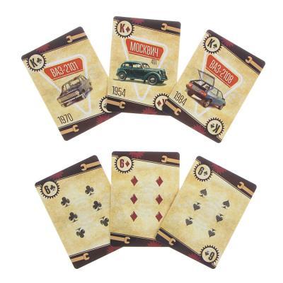 """538-102 LADECOR Карты игральные """"Наша ностальгия"""", с пластик. покрытием, 36шт, 6,3х8,8см, бумага, 3 дизайна"""