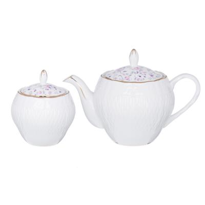 802-004 MILLIMI Пастораль Набор чайный 14 пр., чашка 250мл, чайник 900мл, сахарница 280 мл, кост. фрф