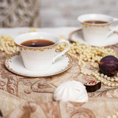 802-007 MILLIMI Виконт Набор чайный 14 пр., чашка 270мл, чайник 650мл, сахарница 230мл, кост. фрф