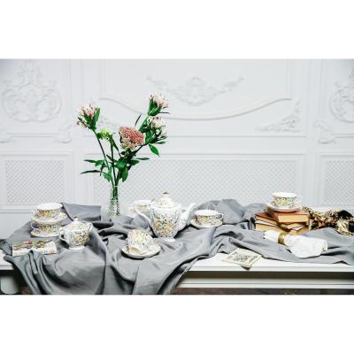 802-008 MILLIMI Версаль Набор чайный 14 пр., чашка 240мл, чайник 1350мл, сахарница 400мл, кост. фрф