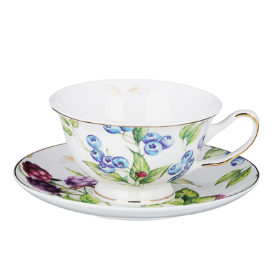 802-028 MILLIMI Французский сад Набор чайный 12пр, 220мл, костяной фарфор