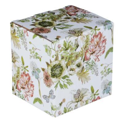 802-033 MILLIMI Волшебные цветы Кружка заварочная с метал. ситечком 360мл, кост.фрф, 4 дизайна, подар.упак.