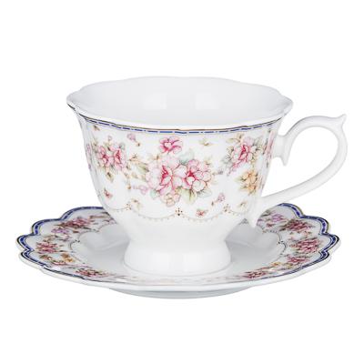802-035 MILLIMI Мария-Антуанетта Набор чайный 2 пр, 220мл, костяной фарфор, 2 дизайна