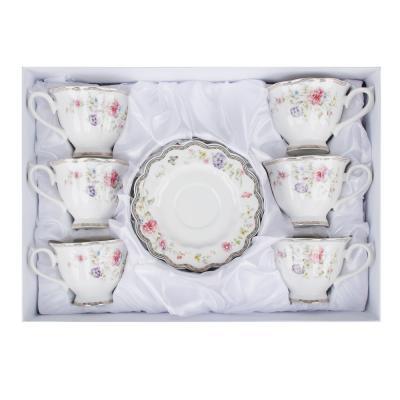 802-038 MILLIMI Антуанетта Набор чайный 12 пр., 220мл, костяной фарфор