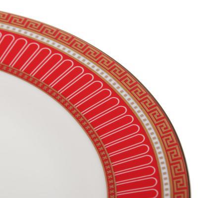 821-002 MILLIMI Красный Монфор Сервиз столовый 21пр, костяной фарфор