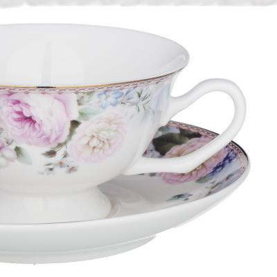 821-010 MILLIMI Фредерика Набор чайный 14пр, чашка 210 мл, чайник 1100 мл, сахарница 310 мл, кост. фрф