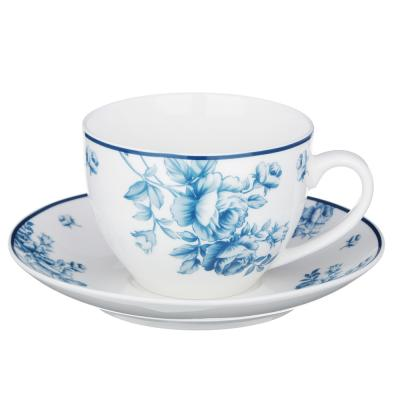 821-028 MILLIMI Амберли Набор чайный 14пр, чашка 270 мл, чайник 1100 мл, сахарница 400 мл, кост. фрф