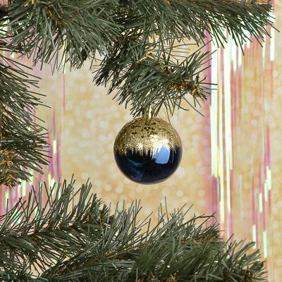 373-278 СНОУ БУМ Набор шаров с деколью, 6 шт, 6 см, пластик, темно-синий, 2 дизайна