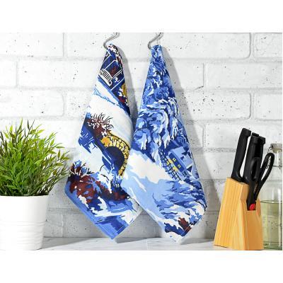 492-002 PROVANCE Зимняя сказка Полотенце кухонное, рогожка, 100% хлопок, 35х60см, 2 дизайна