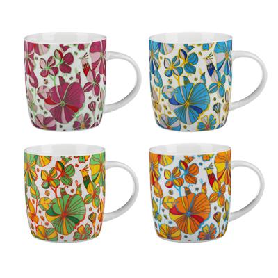 806-005 MILLIMI Вальс цветов Кружка 340мл, керамика, 4 дизайна