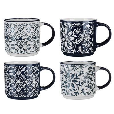 806-007 MILLIMI Арабеска Кружка 390мл, керамика, 4 дизайна
