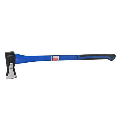 РОКОТ Топор-колун, 1500г, 900мм с клиновидным полотном, прорезиненная ручка