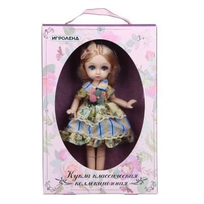 267-835 ИГРОЛЕНД Кукла классическая шарнирная, коллекционная, 28см, пластик, полиэстер, 20х31х7см, 4 дизайна