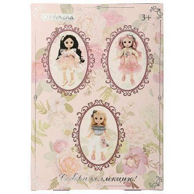 267-835 ИГРОЛЕНД Кукла классическая шарнирная, коллекционная, 28см, PP,PVC, полиэстер, 20х31х7см, 4 дизайна