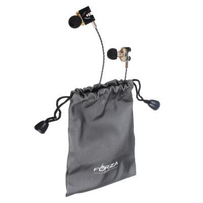 Наушники с двойным драйвером проводные внутриканальные с гарнитурой, оплетка TPE,130см,пластик-3