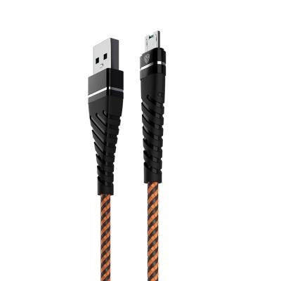 931-004 Кабель для зарядки FORZA BY Герои, Micro USB, 1м, 2.4А, Быстрая зарядка QC3.0