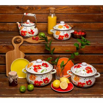 894-483 VETTA Букет Чайник эмалированный 2,5л, индукция