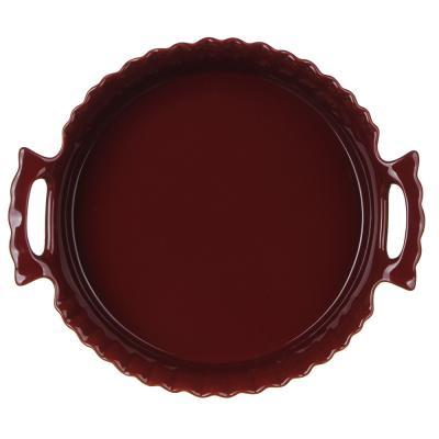 826-329 MILLIMI Форма для запекания и сервировки круглая с ручками, керамика, 30х26,5х6,5см, бордо