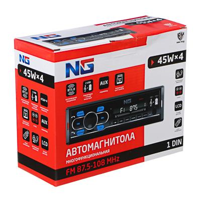 NG Автомагнитола, пиковая мощность-45Вт, 4 канала, USB-FLASH порт, беспроводное BT соединение, AUX