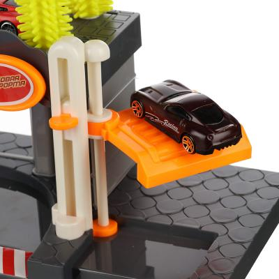 276-100 ИГРОЛЕНД Парковка с автомойкой, 22пр., свет, звук, ABS, PР, железо, сталь,2АА, 42,5х30х9см