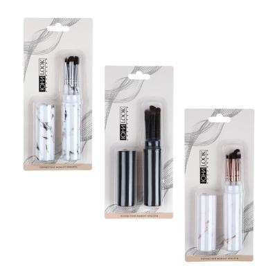 357-209 Кисти для макияжа 5 штук в футляре ЮниLook, 15 см, ворс нейлон, 2 -3 цвета