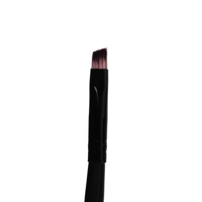 357-213 Кисть для бровей двухсторонняя ЮниLook, ворс нейлон, 14,7 см, черная