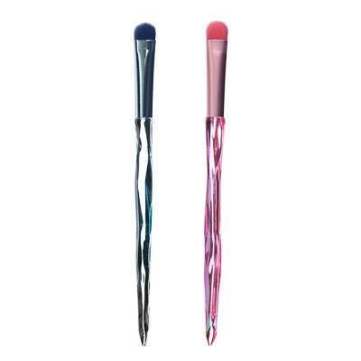 357-215 Кисть для теней плоская ЮниLook, ворс нейлон, 15 см, 1-2 дизайна
