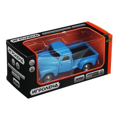 292-228 ИГРОЛЕНД Машинка в виде ретро автомобиля, инерция, металл, ABS, 12,5х5х4-5см, 5 дизайнов