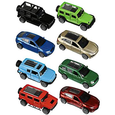 292-229 ИГРОЛЕНД Машинка инерционная, двери открываются, металл, ABS, 9х3-3,8х3,8см, 8 дизайнов
