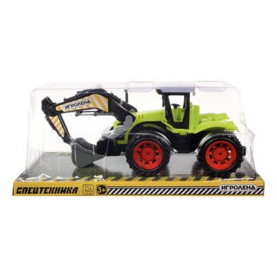 292-230 ИГРОЛЕНД Машина в виде Трактора, инерционного, пластик, 27х11х12см, 4 дизайна