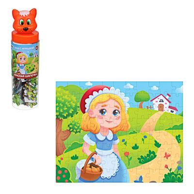897-076 ИГРОЛЕНД Пазл с игрушкой, 88 дет., PVC, PP, картон, 5,5х19,5х5,5см