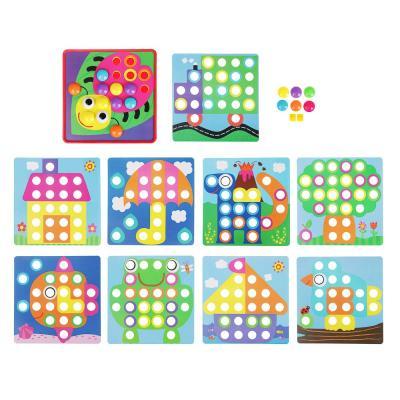 262-445 ИГРОЛЕНД Мозаика развивающая, крупные детали,10-12 карточек, PP, картон, 31х30х5см, 3 дизайна