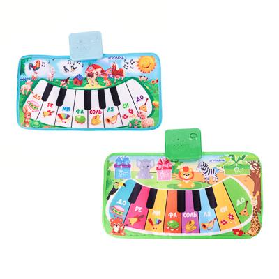 272-725 ИГРОЛЕНД Пианино музыкальное напольное, звук, 3хАА, PP, текстиль, 15х30х4см, 4 дизайна