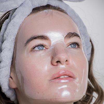 022-021 Маска для лица гидрогелевая ЮниLook, прозрачная для увлажнения и сияния кожи, 28 г