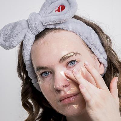 022-022 Маска для лица гидрогелевая ЮниLook, золотая для увлажнения и здорового вида кожи, 28 г